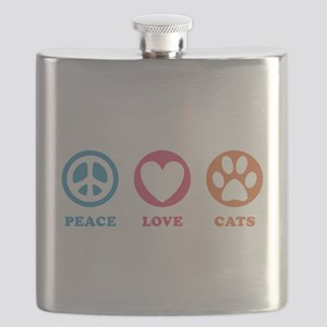 Peace Love Cats [r] Flask